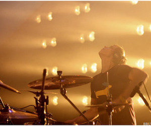 drums, light, and rock image