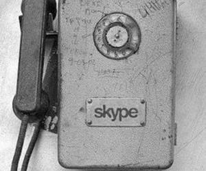 skype, phone, and telephone image