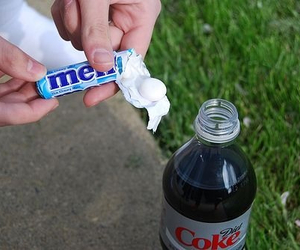 coke, mentos, and photography image