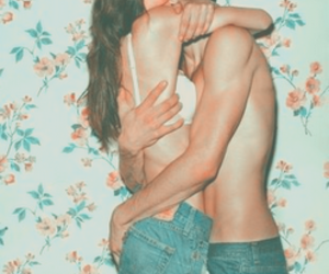 bum, couple, and kiss image