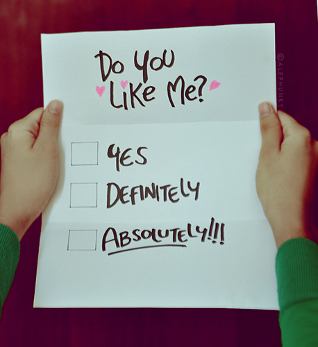 you like me yes or no