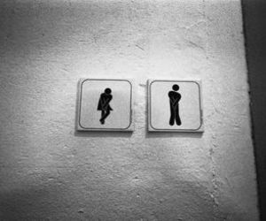 bathroom, black and white, and photography image