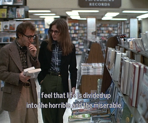 woody allen, annie hall, and movie image