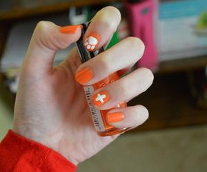 nails, orange, and ed sheeran image