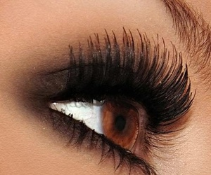 makeup, brown eyes, and beauty image