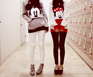 mickey, friends, and minnie image