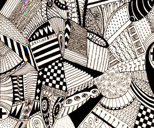 abstract, blackandwhite, and pattern image