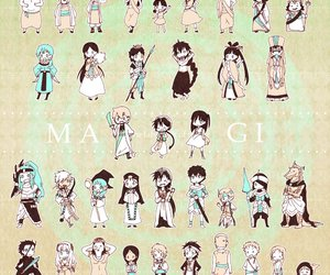 magi, anime, and chibi image