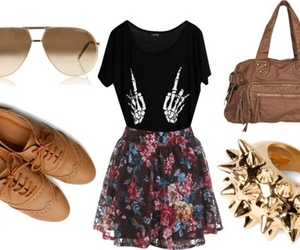 fashion, floral print, and floral skirts image