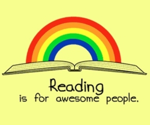 book, awesome, and rainbow image