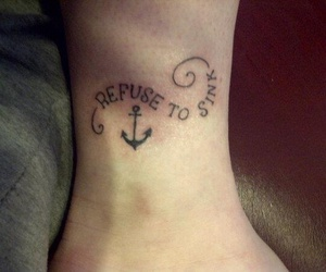 anchor, tattoo, and refuse to sink image
