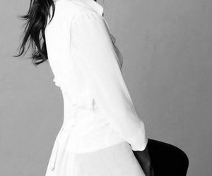 black and white, lee min jung, and korean girl image