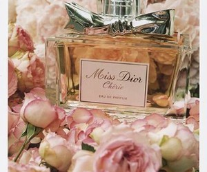 perfume, dior, and flowers image