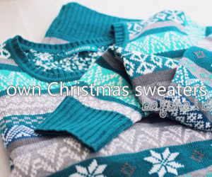 sweater, blue, and winter image