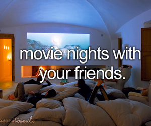 friends, movie, and night image