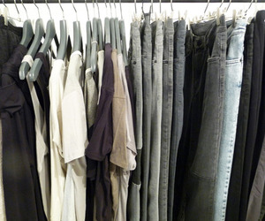 clothes, grey, and denim image