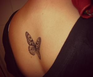 art, butterfly, and tattoo image