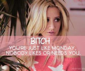ashley tisdale, bitch, and quote image