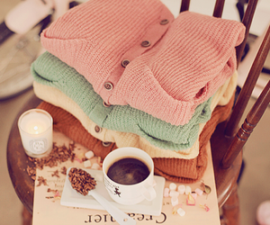 coffee, sweater, and clothes image