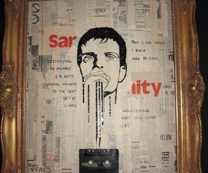 Collage, ian curtis, and concept image