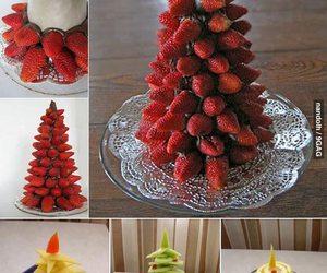 christmas, christmas tree, and fruit image