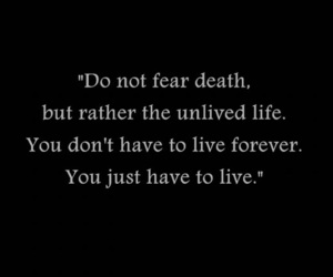 quote, beautiful, and fear image