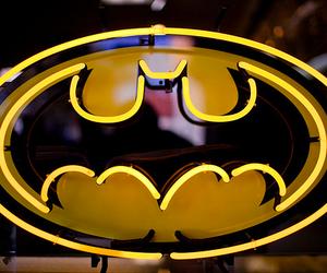 batman, light, and yellow image
