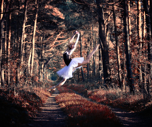 ballet, jump, and photography image