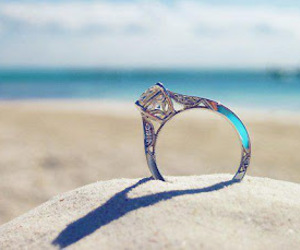 ring, beach, and sand image