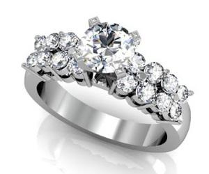 wedding ring, diamond, and diamond ring image