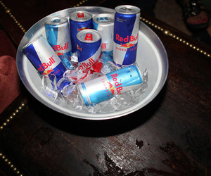 redbull, drink, and ice image