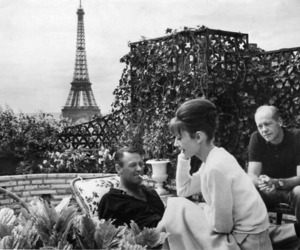 paris, audrey hepburn, and black and white image