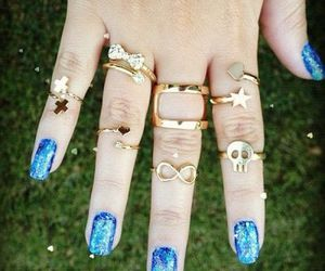 gold, rings, and blue image