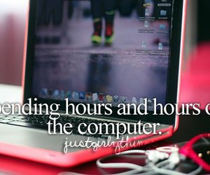 computer, quote, and pink image