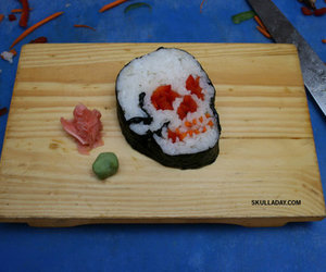 sushi, skull, and food image