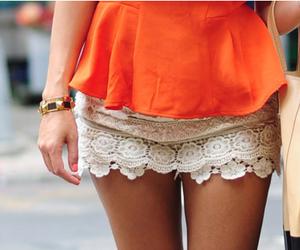 fashion, orange, and lace image