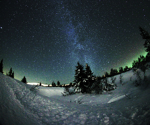 stars, photography, and snow image