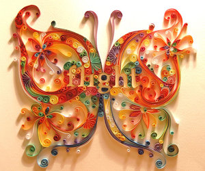 butterfly, art, and Paper image