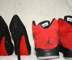 jordan, red, and shoes image