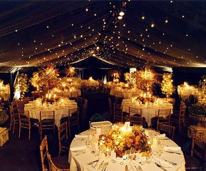 wedding, light, and decoration image