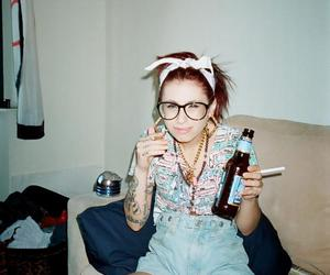 kreayshawn, beer, and fashion image
