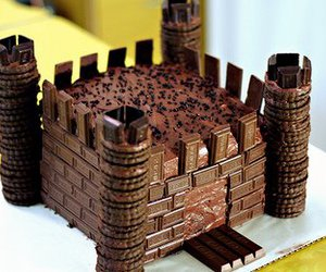 chocolate, castle, and cake image