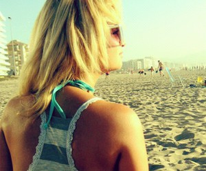 be, beach, and blonde image