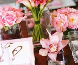 wedding, wedding flowers, and wedding table decoration image