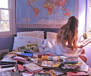 bedroom, travel, and love image