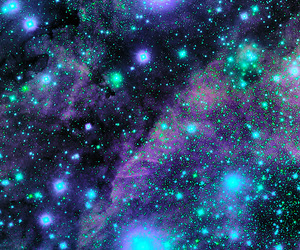 galaxy, space, and blue image