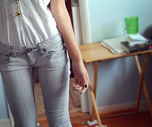 fashion, jeans, and thin image