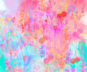 wallpaper, pink, and art image