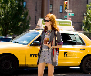 new york, taxi, and fashion image