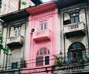 pink, house, and apartment image